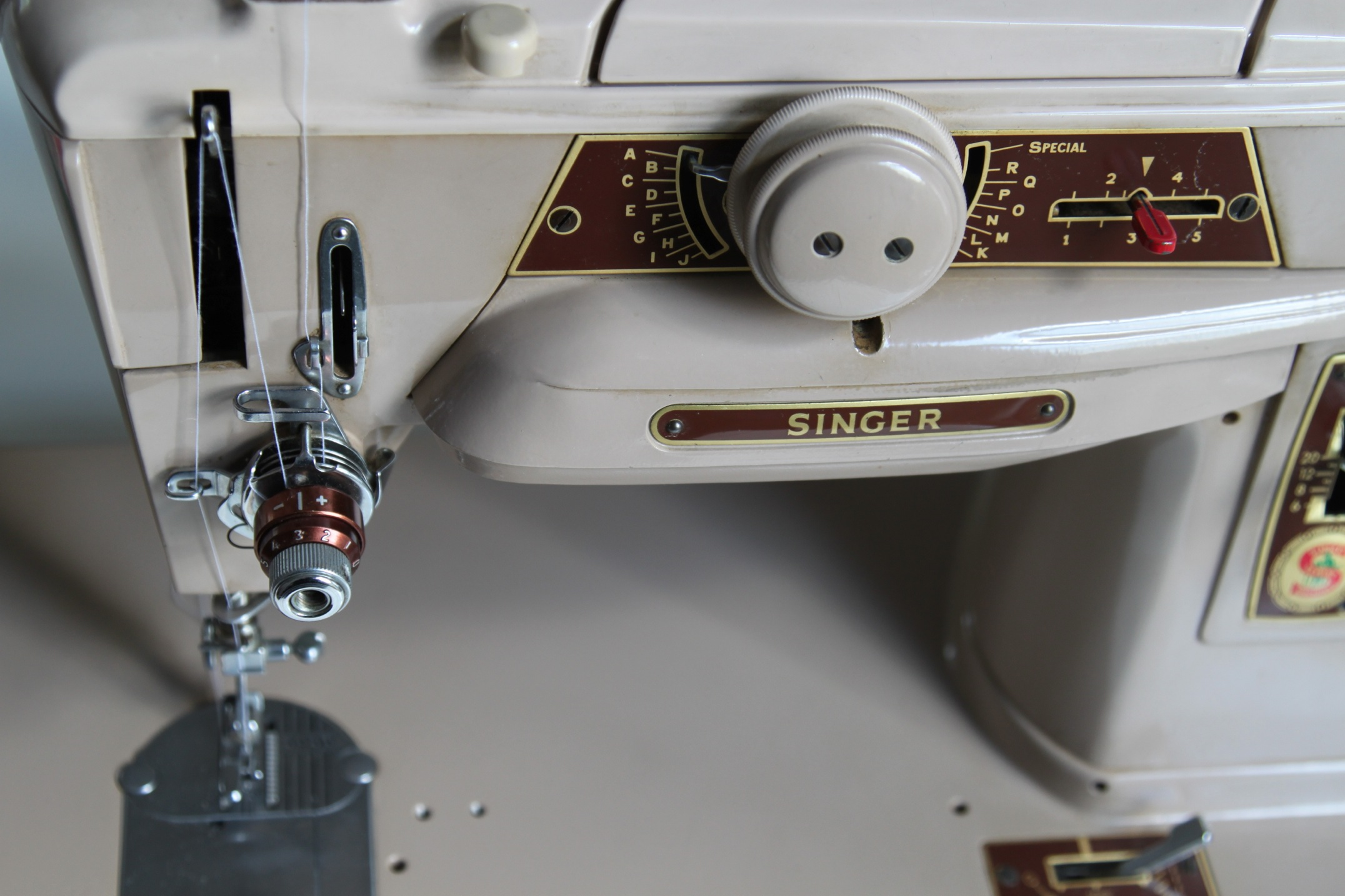 The Hoarder Next Door Tinyinc Singer 221 K Sewing Machine Threading Diagram 401 After Its Clean And Oil