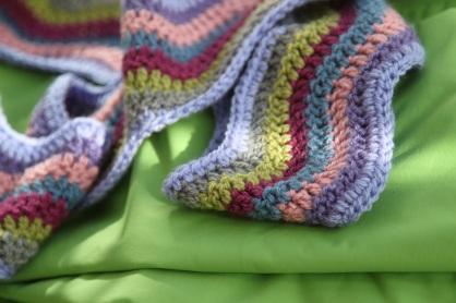 ripple crochet scarf