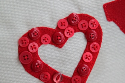 heart of buttons