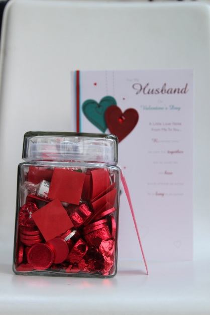 card and jar