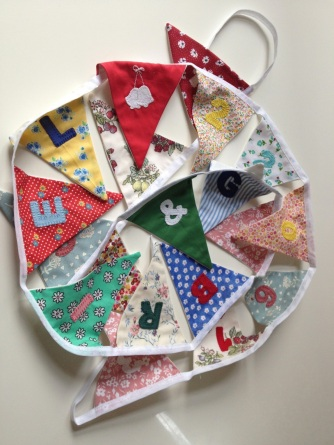 wedding bunting off to brazil
