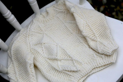 little boy's aran sweater