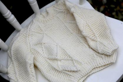 little boy's aran sweater