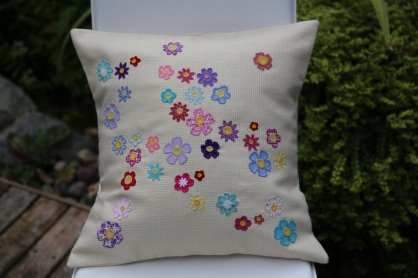 scattered flowers cushion
