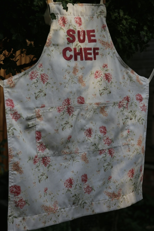 the finished apron