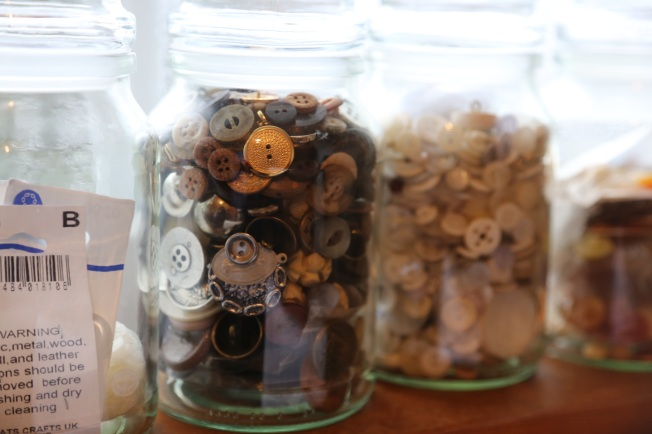 rows of buttons